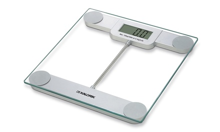 Kalorik Electronic Glass Bathroom Scale with LCD Display