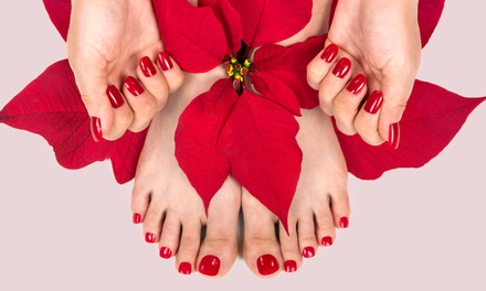 One or Two Shellac Manicures and Pedicures Shiny Nails (Up to 56% Off)