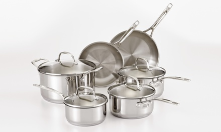 Guy Fieri Stainless-Steel 10-Piece Cookware Set