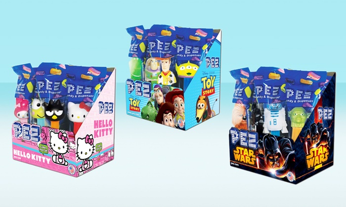 Licensed PEZ Candy Dispenser 12-Pack: Licensed PEZ Candy Dispenser 12-Pack. Multiple Styles Available. Free Shipping.