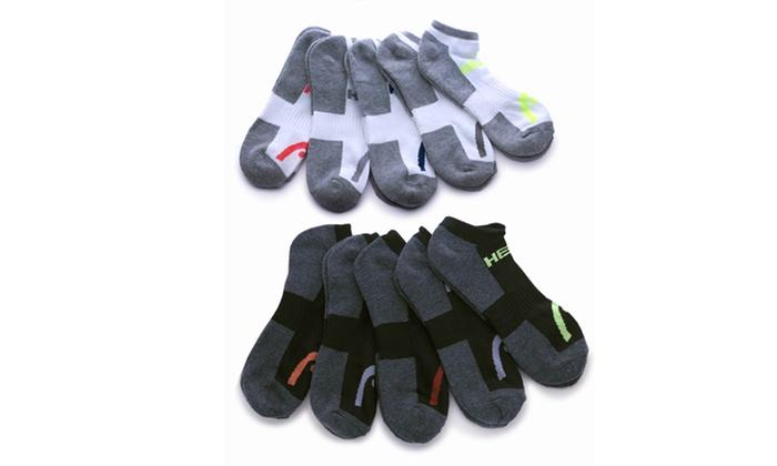 Head Moisture-Wicking Men's Socks (10-Pack)
