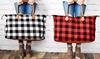 Buffalo Check Tote Weekender Bag Purse