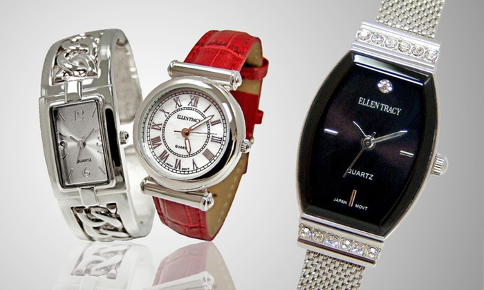 Ellen Tracy Women's Watches: $20.99 for an Ellen Tracy Women's Watch ($59 List Price). Five Styles. Free Shipping and Returns.
