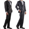 Gianni Uomo Men's Two-Piece Striped Suits