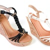 GC Shoes Dior Women's Braided Wedge Sandal