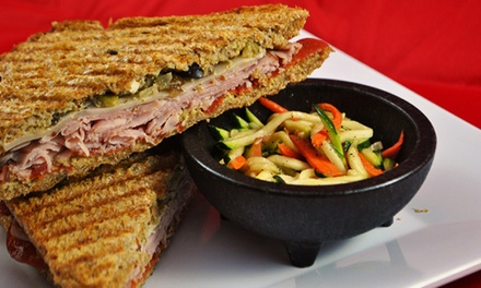 $8 for $15 Worth of Sandwiches, Wraps, and Salads at Paninis Plus