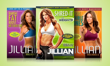 Jillian Michaels Workout DVD or 6-Disc Bundle for $6.99 or $34.99