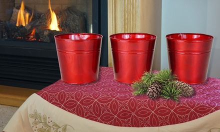 Red gardening pots 3 pack groupon goods for Gardening 4 less groupon