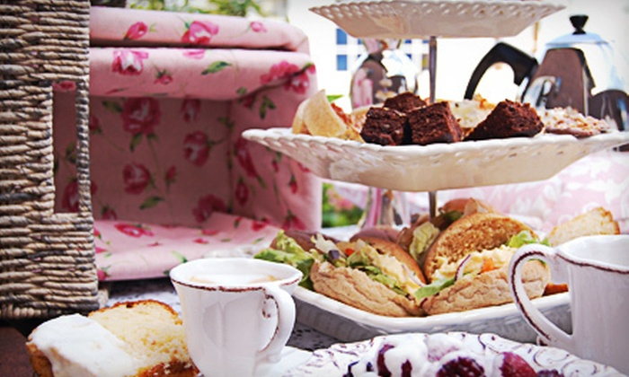 The Crown and Crumpet Tea Room - Jordan: Traditional High Tea for Two or Four at The Crown and Crumpet Tea Room (Half Off)