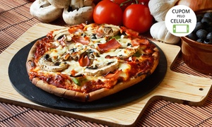 San Telmo Resto Bar: San Telmo Resto Bar – Centro: 1 ou 2 pizzas grandes com 10 opções de sabor
