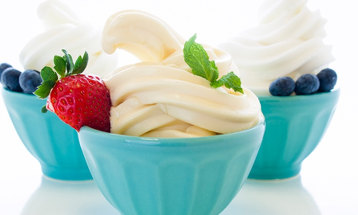 Yogeez - Avery Road Retail Center: Frozen Yogurt and Toppings at Yogeez (Half Off). Two Options Available.