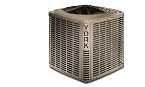 Cosmopolitan Mechanical Services: York Air Conditioner with Installation from Cosmopolitan Mechanical Services (Up to 42% Off). Four Sizes Available.