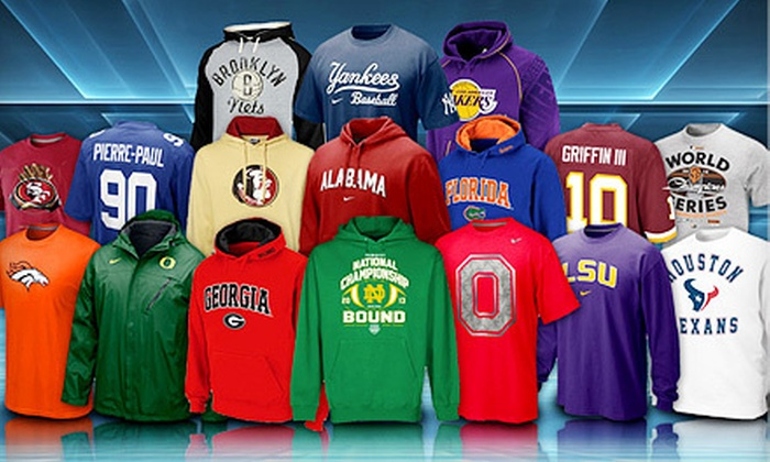 Fanatics: $10 for $20 Worth of Licensed Sports Apparel from Fanatics