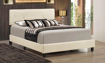 Luca and Sandy Simple Upholstered Beds from $189–$199
