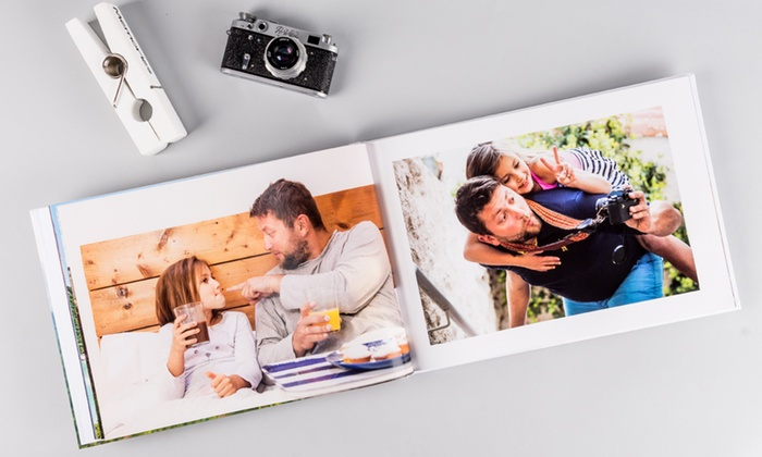 One or Two Extra Large A3 Personalised Hardcover Photobooks with Up to 120 Pages from Colorland