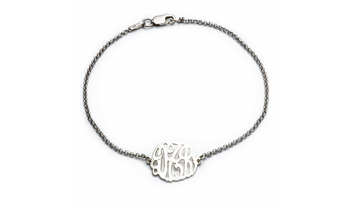 Luce Mia: $29.99 for Monogrammed Bracelet at Luce Mia ($110 Value)