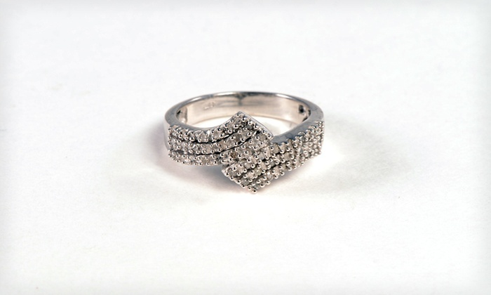 Diamond Bypass Ring: $29 for a Diamond Bypass Ring ($149 List Price). Six Sizes Available. Free Shipping.