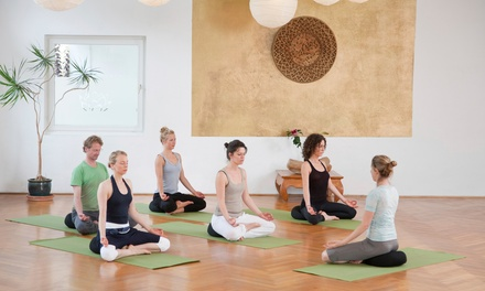5, 10, or 20 Vinyasa, Beginner, Gentle, and Restorative Yoga Classes at AfterGlow Yoga & Fitness (Up to 55% Off)
