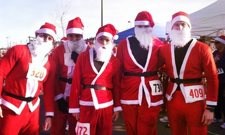 One, Two, or Four Entries with Santa Suit to the Chasing Santa 5K on December 6 from LYMevents (Up to 44% Off)