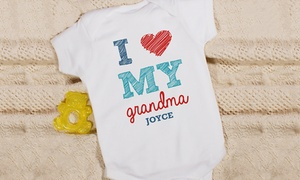 """GiftsForYouNow.com: One or Two Personalized """"I Love"""" Infant Bodysuits or T-Shirts from GiftsForYouNow.com (Up to 50% Off)"""