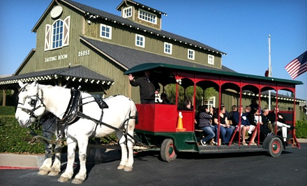 Horse-Drawn-Trolley Tour for One or Two from Temecula Carriage Company (Up to 81% Off)