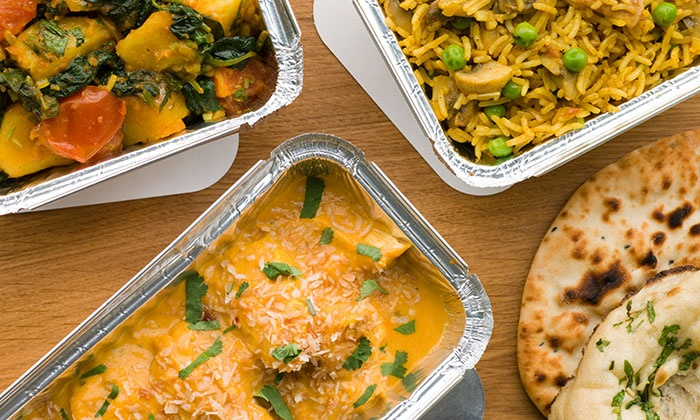 Kulcha King - Multiple Locations: Indian Lunch Box With Delivery: For One (AED 89) or Two (AED 169) Weeks from Kulcha King (Up to 53% Off)