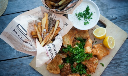 Cod and Large Chips For Two (€11.99) or Four (€23.80) at The Fryery (46% Off)