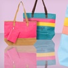 $15.99 for a Faux Leather Color Block Tote Bag