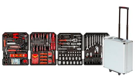 Maletín de herramientas tipo trolley con 187 piezas