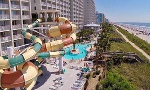 Oceanfront Myrtle Beach Hotel with Water Park at Crown Reef Beach Resort and Waterpark, plus 6.0% Cash Back from Ebates.