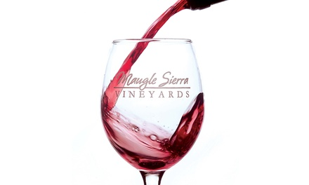 Full Wine Tasting for Two or Four with Souvenir Glasses at Maugle Sierra Vineyards (Up to 39% Off)