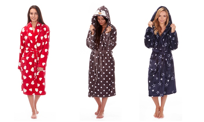 Printed Fleece Dressing Gowns  f3d386606269
