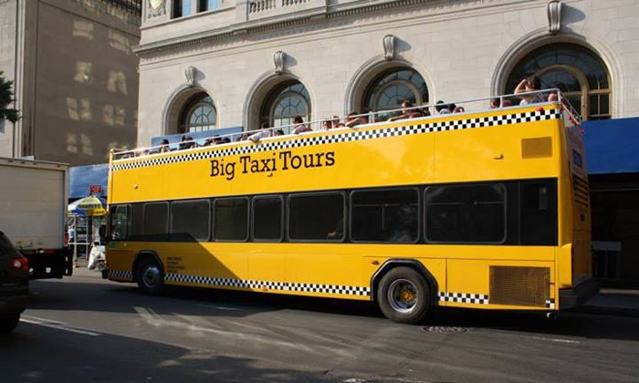 Loop through downtown and uptown on a double-decker bus, which you can hop off to get a closer look at points of interest Loop through downtown and uptown on a double-decker bus, which you can hop off to get a closer look at points of interest and explore the many wonders of New York City. Sail through the city on one of their easy-to-spot Price: $