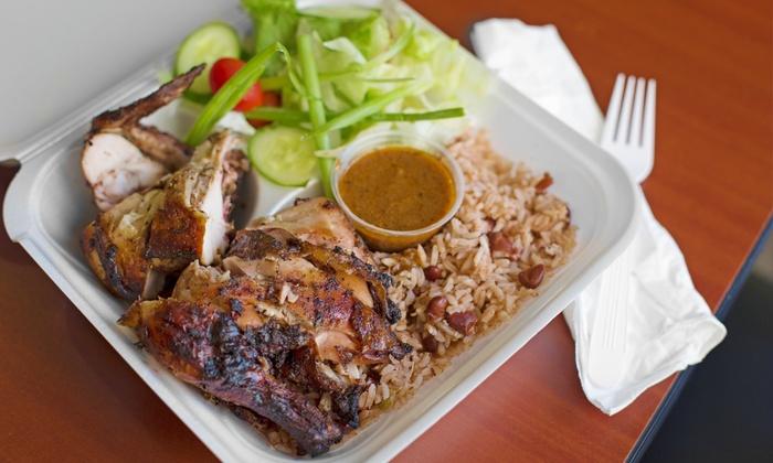 Jerky Jerk - Edgewater: Jamaican/Caribbean Cuisine at Jerky Jerk (35% Off). Two Options Available.