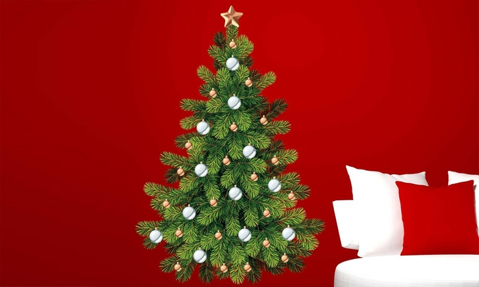 Regali Di Natale Groupon.Adesivo Da Muro A Forma Di Albero Di Natale
