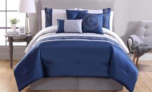Embroidered Comforter Set Groupon Goods
