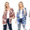 Women's White Mark Fringe Kimono