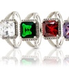 Sterling Silver Cubic Zirconia Halo Rings