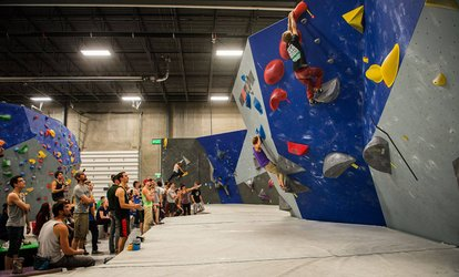 image for Bouldering Intro Class for 2 People, 2 Day Passes, or Party Package at The Core Climbing Gym (Up to 50% Off)
