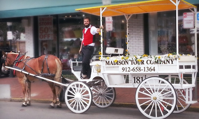Madison Tour Company - Downtown Savannah: $85 for a BYOB Private Wagonette-Style Carriage Tour for Up to Eight People from Madison Tour Company ($176 Value)