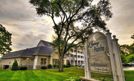 2-Night Stay with Optional Romance or Casino Package at Bay Pointe Inn in Shelbyville, MI. Five Options Available from Bay Pointe Inn - Gun Lake, MI