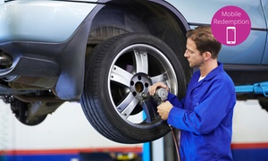 Tyreking Tyre & Service Centre: $29 Front Wheel Alignment & Balance or $69 Vehicle Service or Brake Pad Change at Tyreking Ellerslie (Up to $419 Value)