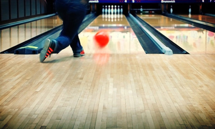 Economy Lanes - Ambridge: Bowling Outing for Two, Four, or Eight Including Shoes, Nachos, and Drinks at Economy Lanes (Up to 54% Off)