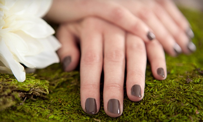 The Haircut Place and Nail Studio - Altura Addition: Gel Manicures or Pedicures with Hot-Stone and Paraffin Treatments at The Haircut Place and Nail Studio (Half Off)