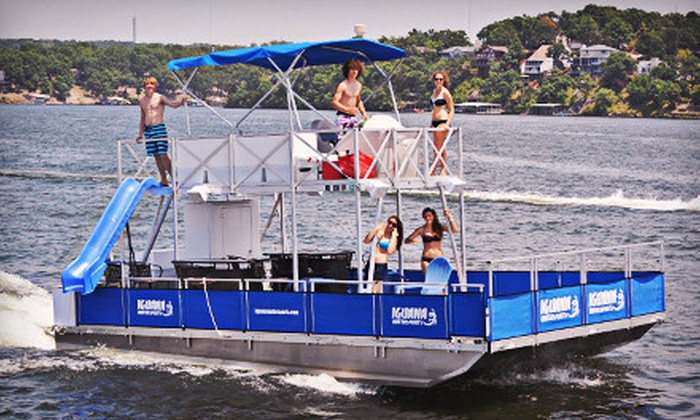 Iguana Watersports, Inc. - Multiple Locations: Full-Day Deluxe Tritoon Boat or Party Barge Rental at Iguana Watersports, Inc. (Up to Half Off)