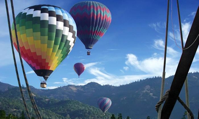 Calistoga Balloon Co - Calistoga: $175 for a One-Hour Hot-Air-Balloon Flight for One from Calistoga Balloon Co ($219 Value)