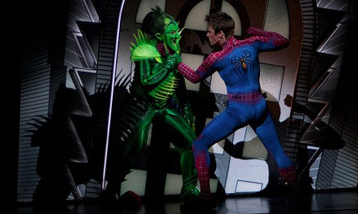 """""""Spider-Man Turn Off The Dark"""" - Theater District - Times Square: """"Spider-Man Turn Off the Dark"""" at the Foxwoods Theatre (Up to 34% Off). 40 Options Available."""