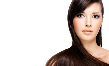 One or Two Keratin Treatments, or Haircut and Blowout at Alora Salon (Up to 74% Off)