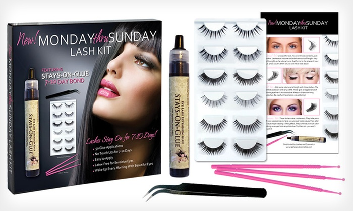 Lashes & Cosmetics Lash-Extensions Kit: $19.99 for a Lashes & Cosmetics Monday Thru Sunday Lash-Extension Kit ($96 List Price). Free Shipping.