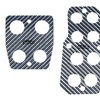 Silver Carbon Manual Pedal Set for Cars, Trucks, and SUVs